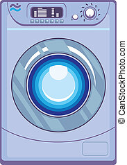 Washing Machine - washing machine vector illustration...