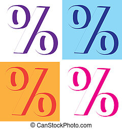 Percent Interest - percent interest illustration clip-art...