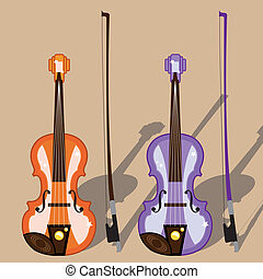 Violin - violin vector illustration clip-art simplistic
