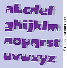 Letters simplistic - letters simplistic illustration...