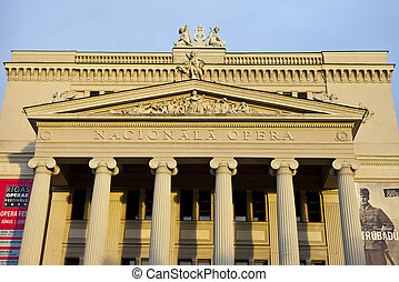 Latvian National Opera House in Riga - The magnificent...