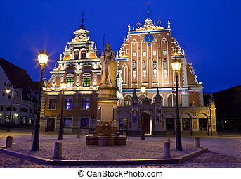 House of the Blackheads in Riga - The beautiful House of the...