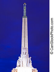 The Freedom Monument in Riga, Latvia The memorial honours...