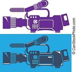 Video Camera - video camera illustration clip-art vector