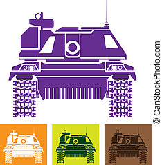 Tank Front - tank front vector illustration clip-art eps