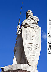 St. Roland Statue in Riga - Statue of Saint Roland in Riga,...