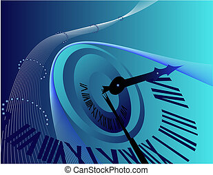 Background with clock - Blue Background with clock