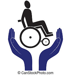 disabled care sign vector - disabled invalid care sign...