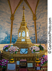 Relics - Buddha relics in the temple of Thailand.