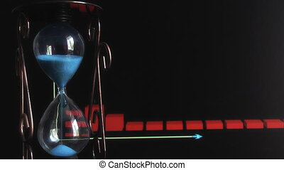 hourglass on the background graphics