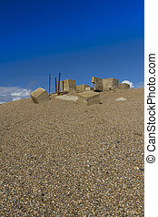 Anti tank, World War two anti-invasion defences, Chesil...