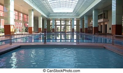 swimming pool - Empty magnificent swimming pool indoor