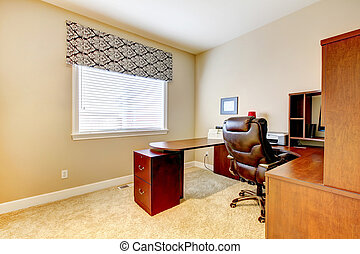 Office room interior - Office room with table set and...