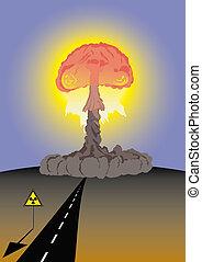 Atomic Cloud - Danger, atomic test area.