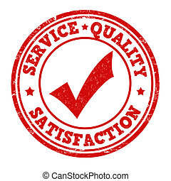 Service, quality, satisfaction stamp - Service, quality,...