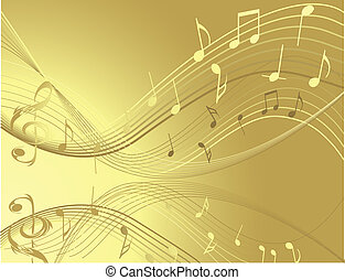 Music notes - Gold  Music notes