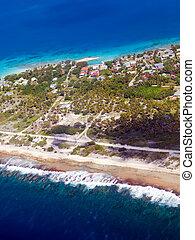 Islands in the ocean. Aerial view
