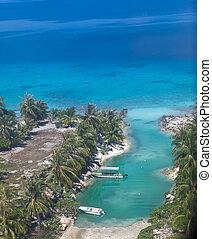 Islands in the ocean. Aerial view.