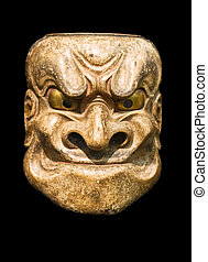 Demon mask Japanese Noh Theater