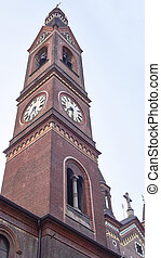 bell tower in the town of torino