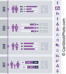 Maternity Infographic Template - Flat Maternity Infographics...