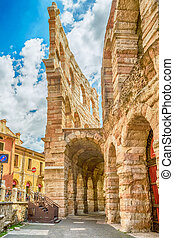 The Verona Arena - Ancient Roman amphitheatre Arena in...