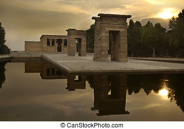 Temple of Debod in Madrid, Spain