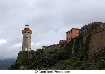 Forte Stella Lighthouse, Portoferraio, Isle of Elba, Italy