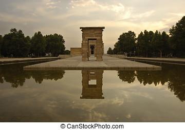 Temple of Debod in Madrid, Spain