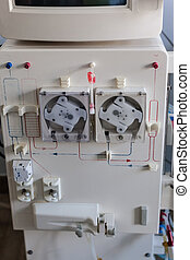 Dialysis machine closeup - a dialyser or hemodialysis...
