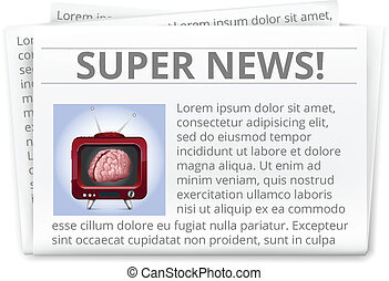 Vector Realistic Daily Newspaper Is