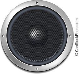 Isolated Vector Realistic Speaker