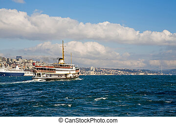 Feryboat - Ferryboat in Istanbul Turkey transporting people...