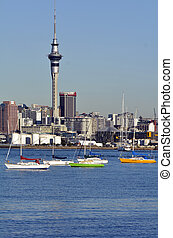 Auckland downtown skyline - New Zealand - AUCKLAND, NZ - MAY...