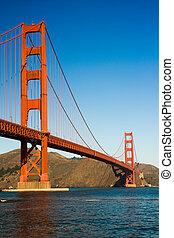 Golden gate Bridge - view of the golden gate bridge San...