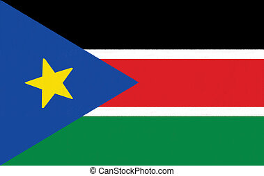 South Sudan flag drawing by pastel on charcoal paper