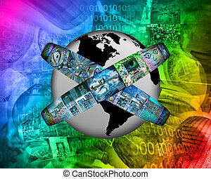 virtual world - Many abstract images on the theme of...