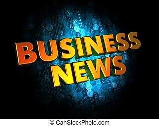Business News - Gold 3D Words - Business News - Gold 3D...