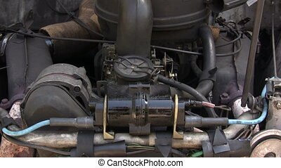 Old Car Engine - Canon HV30. HD 16:9 1920 x 1080 @ 25.00...