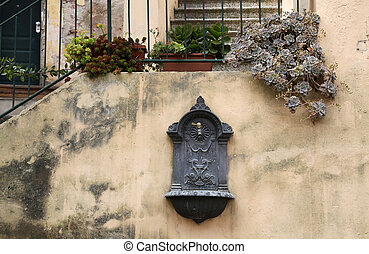 Old Drinking Fountain in Italian City