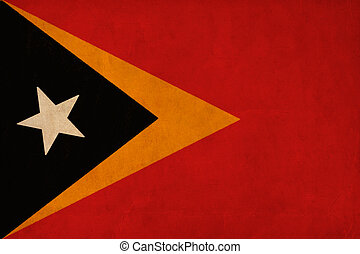 Timor Leste flag drawing ,grunge and retro flag series