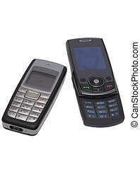 Cell phones. - Cell phones on a white background....