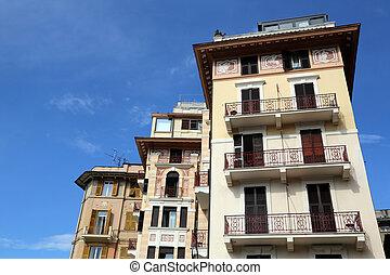 Liguria, Rapallo, buiding facade