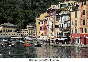 Portofino, Italy on May 04, 2014. Portofino is an Italian...