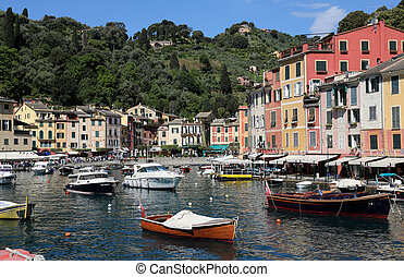 Portofino, Italy on May 04, 2014. Portofino is an Italian...