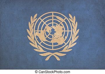 United Nations flag drawing ,grunge