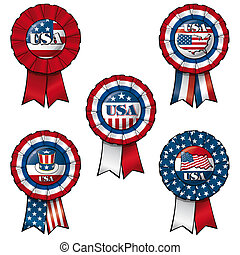 Ribbon USA - Set of 5 interchangeable Ribbons and Buttons on...