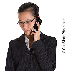 Asian Businesswoman And Smartphone - Asian businesswoman...
