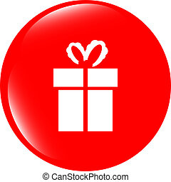 Holiday gift box icon web button