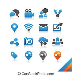 Social media icons vector - Simplicity Series - Three color...